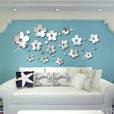 Flower and grass removable wall graphics for the spring, blue and yellow  removable wall murals for summer, brown and golden ...