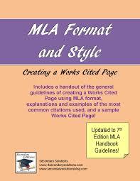 Mla Citation Page Format