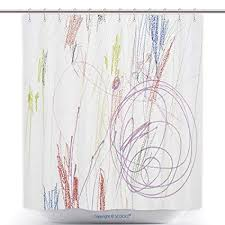Cool shower curtains for kids Bath Vanfancool Shower Curtains Child Scribble On The Wall Colored Pencils Scribbles On White Amazoncom Amazoncom Vanfancool Shower Curtains Child Scribble On The Wall