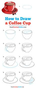 Cute coffee cup / clear coffee mug / tea cups / milk cups / coffee cups / 6 unique animal designs / coffee mugs / cute glass cups / 375ml. How To Draw A Coffee Cup Really Easy Drawing Tutorial