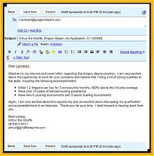 Resume Email What To Write In Email When Sending Resume And Cover Letter What 17