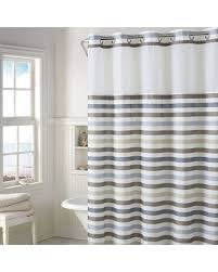 eye catching striped shower curtain at amazing deal on hookless hampton multi with