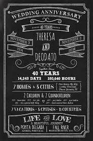 Chalkboard Sign Designs Chalkboard Style Wedding Anniversary Sign With 2 Side