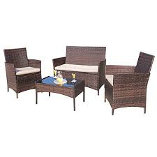 Patio furniture Wood Homall Pieces Outdoor Patio Furniture Sets Rattan Chair Wicker Setoutdoor Indoor Use Backyard Target Amazoncom Homall Pieces Outdoor Patio Furniture Sets Rattan