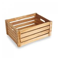 large wooden display crate