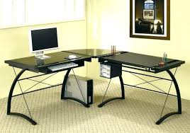 large glass office desk glass desk cover l glass desk glass top l shaped desk glass large glass office desk