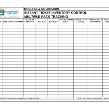 Delivery Manifest Template Inventory Control Spreadsheet Template La Portalen Document