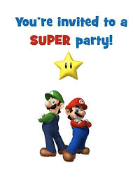 Birthday Party Evites Super Mario Bros Free Printable Birthday Party Invitation