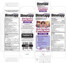 Childrens Dimetapp Multi Symptom Cold Relief Dye Free