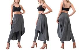 Up To 78 Off On Womens Pants With Skirt Overlay Groupon