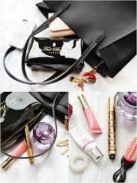 what s in my on the go makeup bag whats in my travel makeup bag