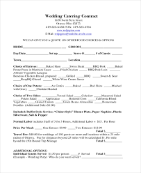 Example Of Catering Contract Free 7 Sample Catering Contract Forms In Pdf Doc
