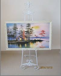 Wedding Album Display Stand Mesmerizing Iron Painting Frame Rack Shelf Floor Display Stand Easel Welcome