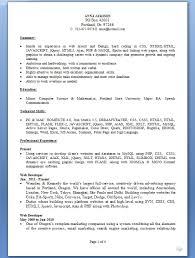 Gallery Of Web Designer Resume Latest Template In Word Format Free