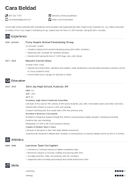 Sample of cv for job application format. High School Graduate Resume Example With No Experience