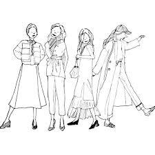 Litomimoが描くモノクロオシャレ女子のイラスト The Sacca