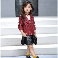 chifave baby girls coat new autumn spring leather pu kids girls jacket long sleeve fashion children girls jackets outwear
