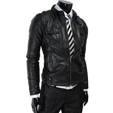 mens luxury strap pocket slim leather jacket zoom helmet