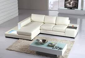 modern sectional sofas. View In Gallery A White Modern Leather Sectional Sofa Sofas