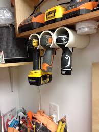 pvc drill holder got tired of losing your drills or power tools in the garage