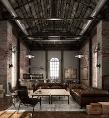 Living Room Design: Broadway Speak Easy Look Industrial Living Room Ideas -  Industrial Modern Living