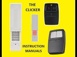 clicker garage door keypad instructionsClicker Remote  Keyless Entry InstructionsPDFsave  YouTube