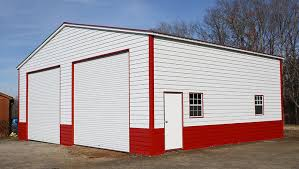 steel garages with steel lap siding