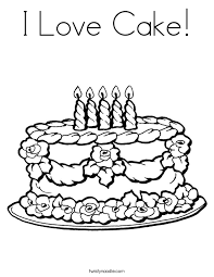 Small Picture Birthday Cake Coloring Page Twisty Noodle