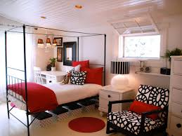 Red White And Black Living Room Bedroom Colors Red And Black