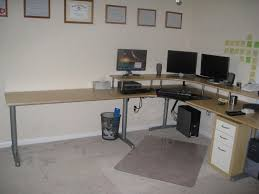 corner desk home office idea5000. Beautiful Desk Ikea Hackers L Shaped Desk With Modern Galant Megadesk Nice Combine  Metal And Wooden Materials Design With Corner Desk Home Office Idea5000 M