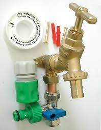 garden hose fittings. Image Is Loading Outside-Tap-Kit-With-Permanent-Hose-Branch-And- Garden Hose Fittings