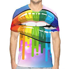 Amazon Com Flying Xie Boys Lesbian Rainbow Lips Funny 3d