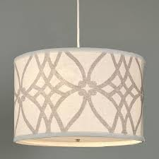 pendant drum shade lighting. trellis linen drum shade pendant lighting