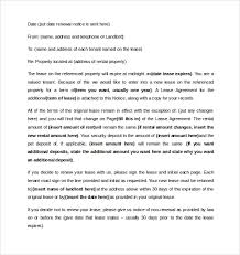 tenant renewal letter 12 lease renewal letter templates pdf word
