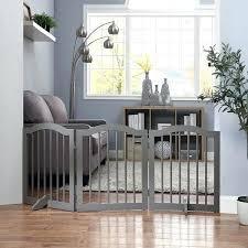 wooden dog gate indoor freestanding pet gate wooden dog gate w arched top by freestanding wooden