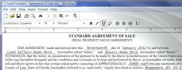 Download Land Contract Form Standard Sales Agreement Purchase And ...