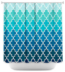 Shower Curtain Unique From Dianoche Designs Aqua Ombre