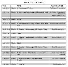 Work Plan Proposal Template Xaoufeiya Com