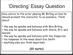 an inspector calls revision essay question