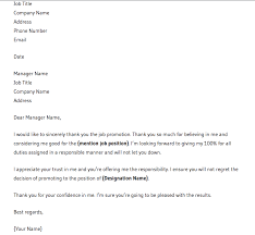 How To Write Thank You Letter For Job Promotion Free