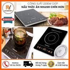 Bếp Hồng Ngoại Sunhouse SHD6020 2200W, Mặt Kính Cảm Ứng Siêu Bền