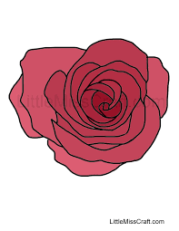 Small Picture Crafts Rose Coloring Page 2