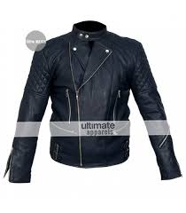 brando blue biker quilted leather jacket for men 159 00