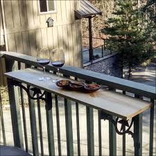 balcony tables lovely deck railing table and diy plans mount folding balcony home design
