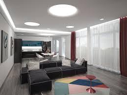 Wohnzimmer Esszimmer Küche Zimmer 3d Visualisierung Und
