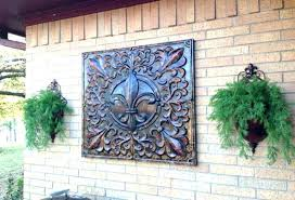 outdoor wall decor ideas living room decorating hangings decoration garden ridge metal outside