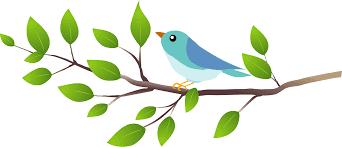 Blue bird on a branch clipart. Free download transparent .PNG   Creazilla