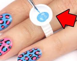 testing nail polish rings