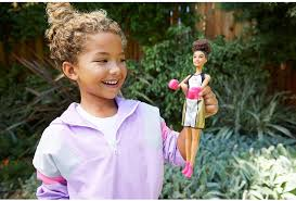 Amazon.com: Barbie Boxer Brunette Doll with Boxing Outfit and Pink Boxing  Gloves: Toys & Games