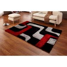 casa regina gy collection 3d design abstract lines red black soft 5 ft x